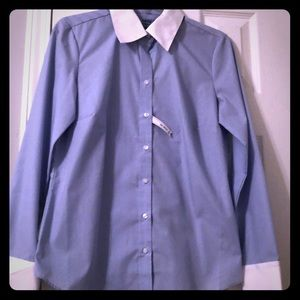"Never worn! Izod collared ""no iron"" dress shirt"